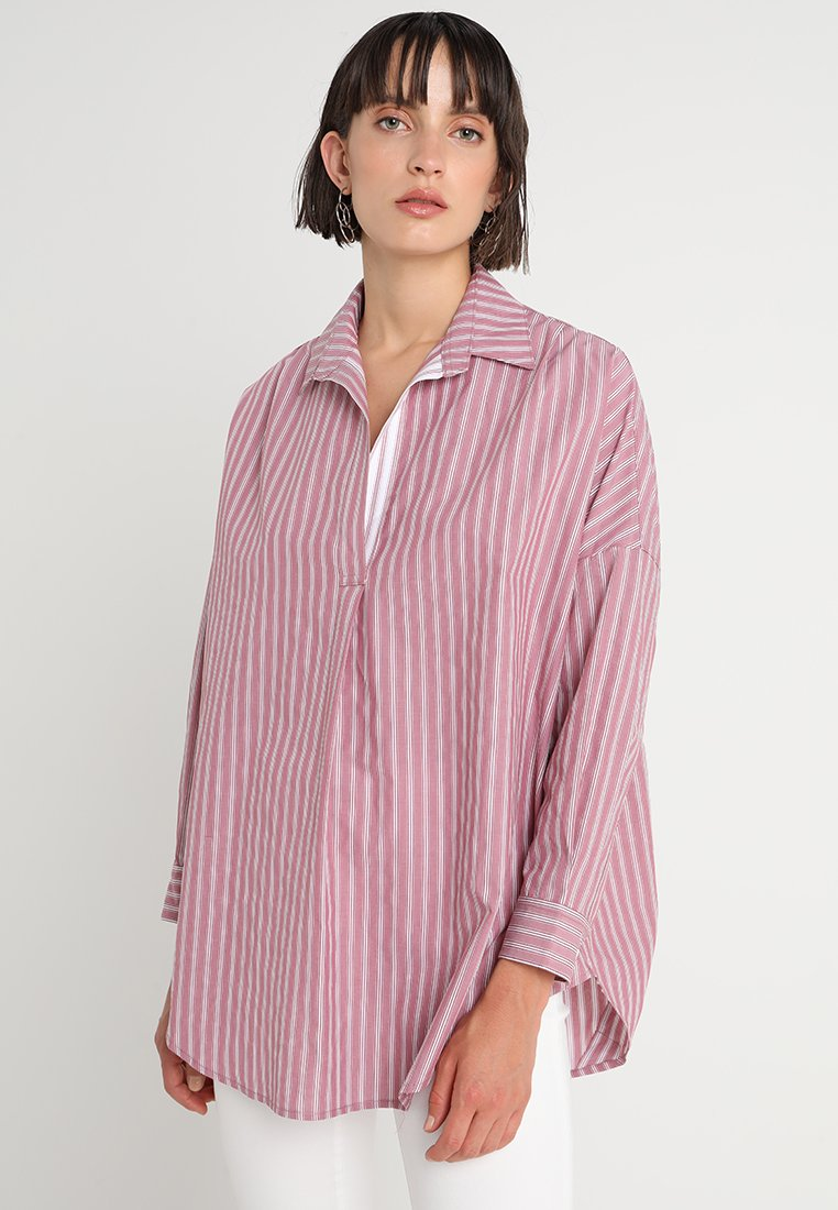 French Connection - BEGA STRIPE - Tunika - baked cherry