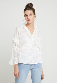 French Connection - CLARTA FIL COUPE DVORE WRAP - Blouse - summer white - 0