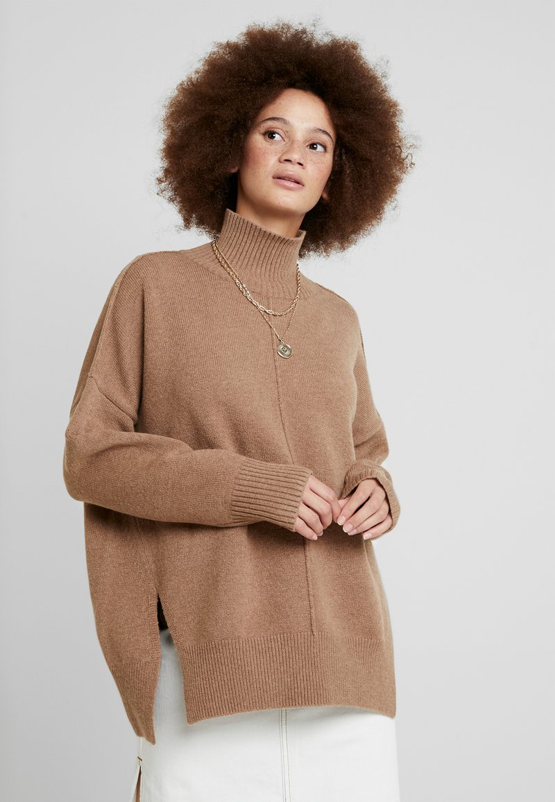 French Connection - RIVER JUMPER - Strickpullover - classic camel