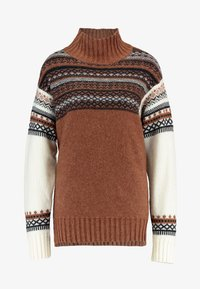 French Connection - PATCHWORK FAIRISLE  - Jumper - camel/multi - 4