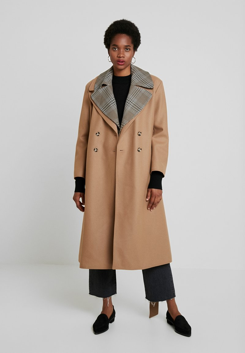 French Connection - CARMELITA FELT CHECK - Trench - camel multi