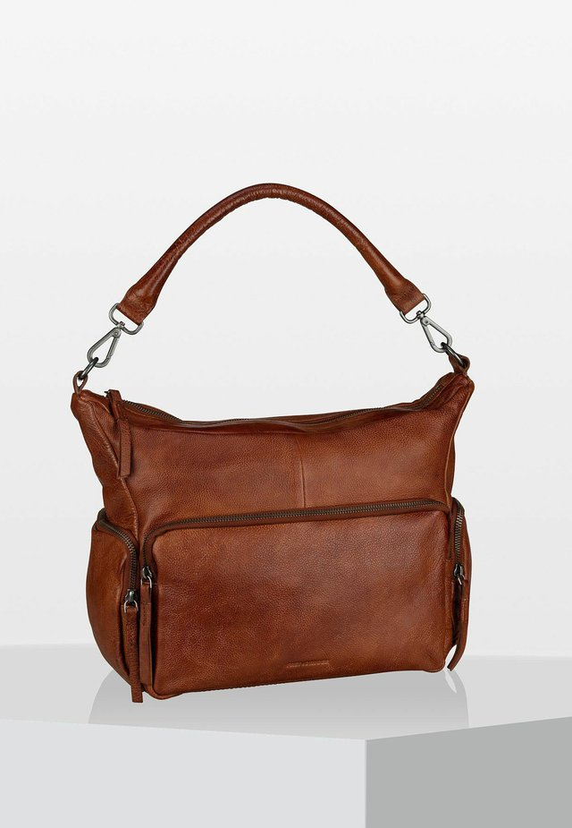 HOBO BAG HONEYCOMB - Handbag - brown