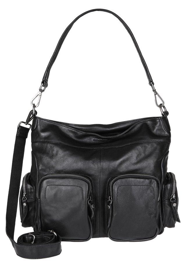 HOBO BAG CHERRY - Handtasche - black