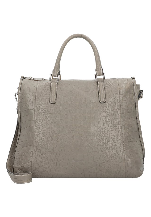MEGGY HANDTASCHE LEDER 37 CM - Handtasche - warm  grey