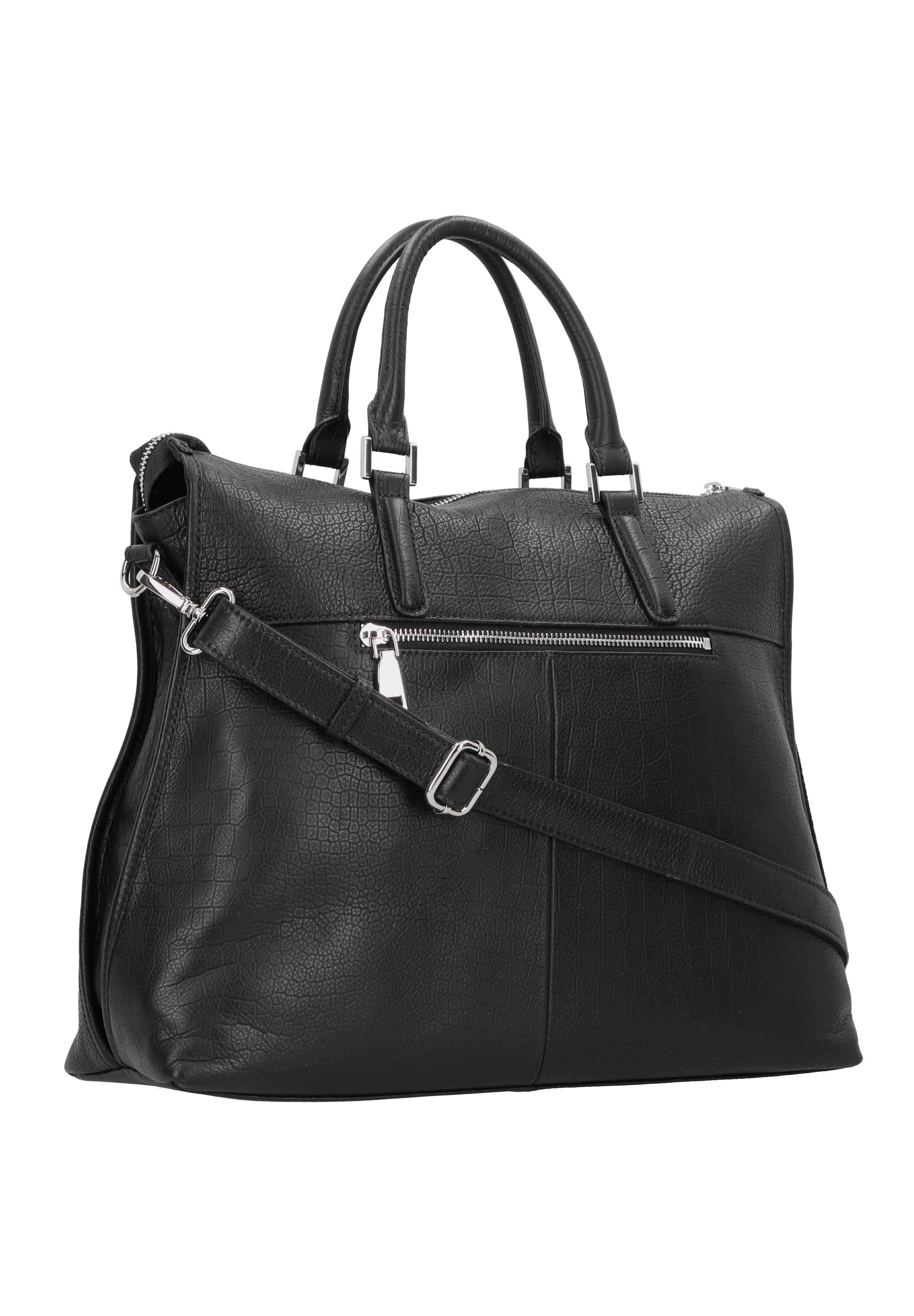 Fredsbruder Meggy Handtasche Leder 37 Cm - Sac À Main Black
