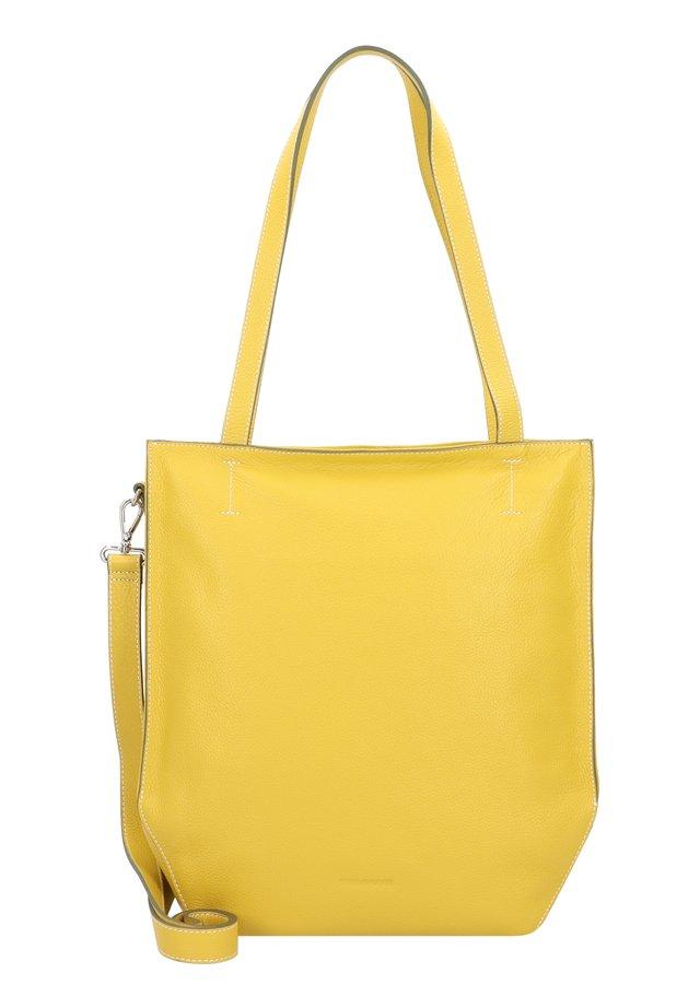 MELFI SCHULTERTASCHE LEDER 33 CM - Handtasche - lemon
