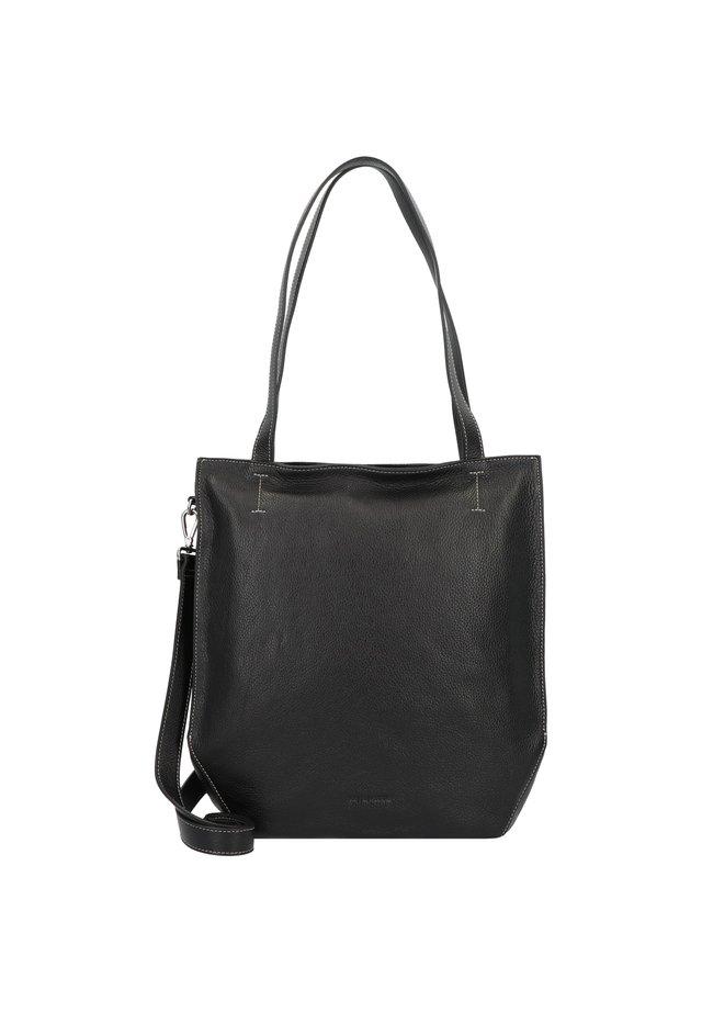 MELFI SCHULTERTASCHE LEDER 33 CM - Handtasche - black
