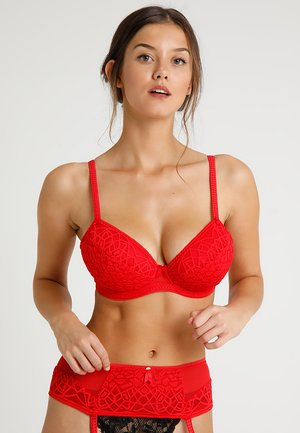 SOIREE PLUNGE BRA  - Underwired bra - rouge