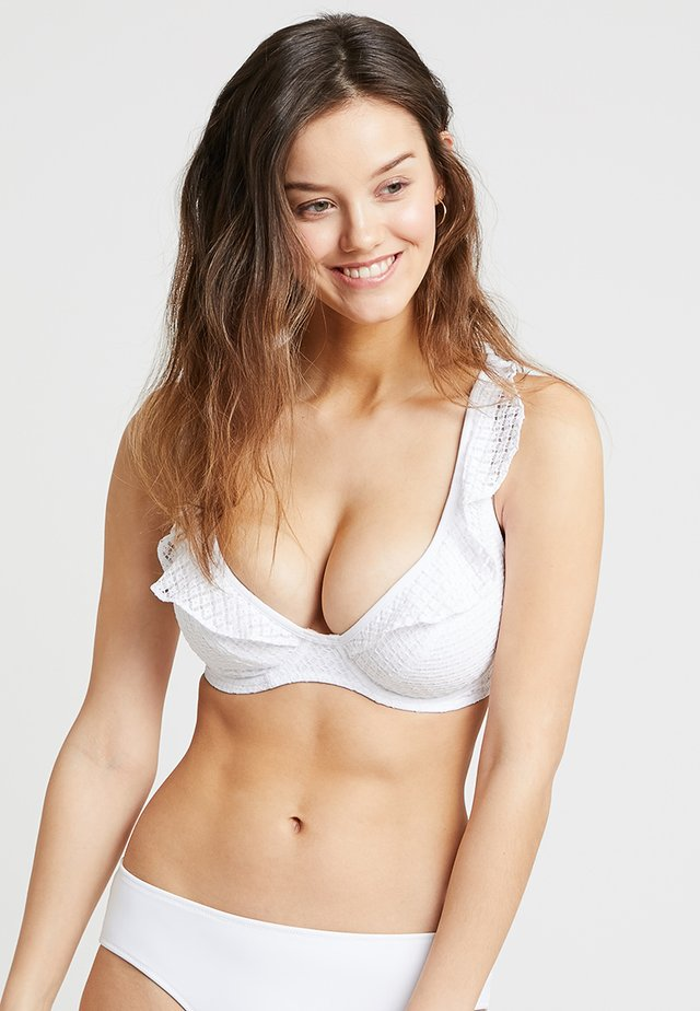 BOHEMIA HIGH APEX - Bikini top - white