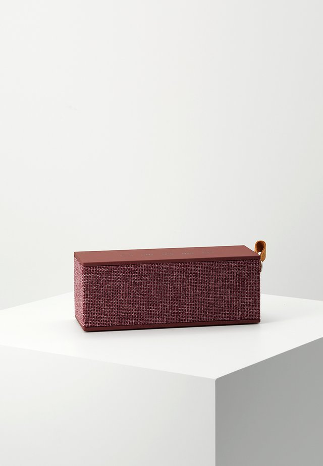 ROCKBOX BRICK FABRIQ EDITION BLUETOOTH SPEAKER - Luidspreker - ruby