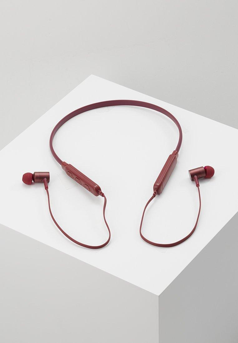Fresh 'n Rebel - BAND IT WIRELESS IN EAR HEADPHONES - Kopfhörer - ruby