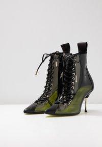 Fratelli Russo - JASMINE - Lace-up ankle boots - positano nero/fumo - 4