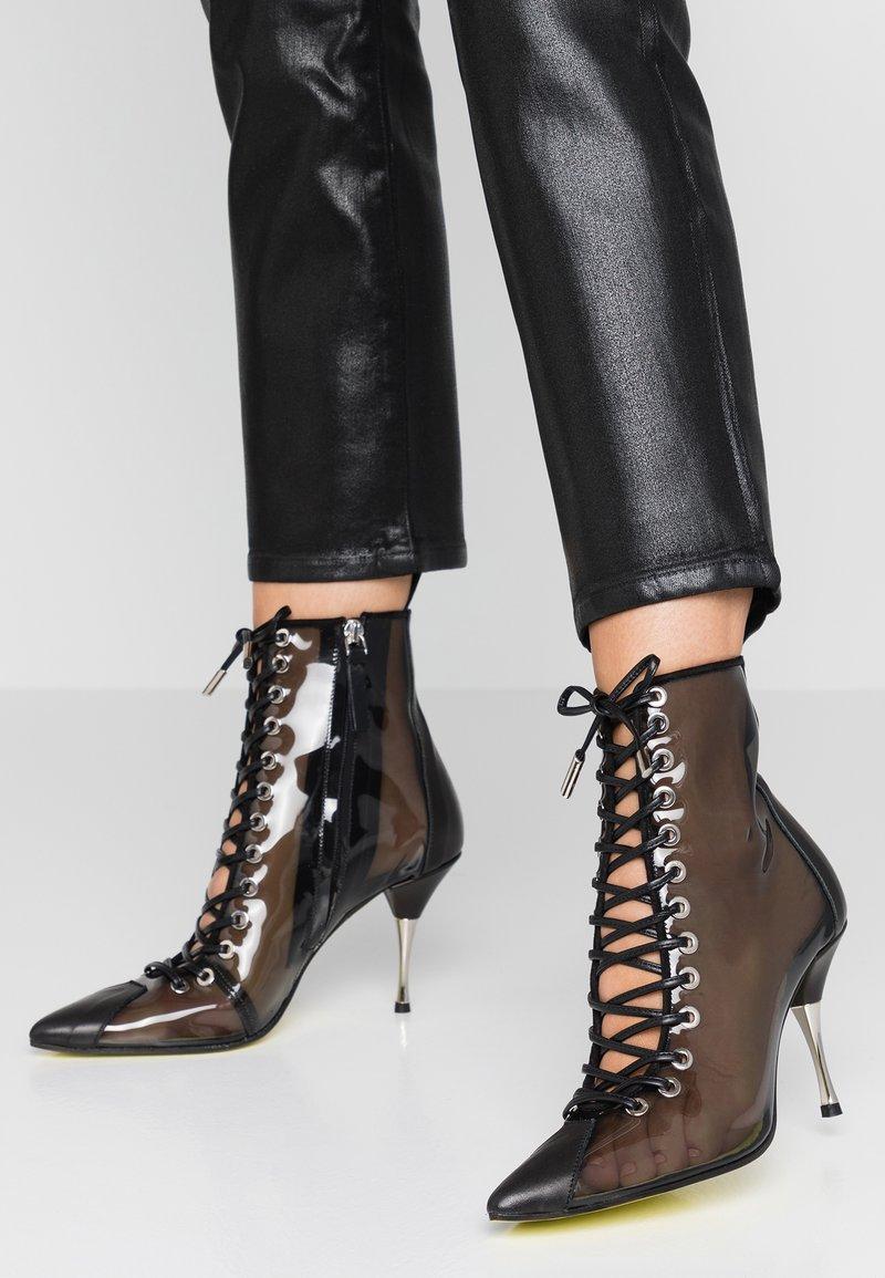 Fratelli Russo - JASMINE - Lace-up ankle boots - positano nero/fumo