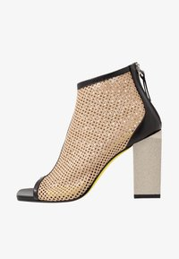 Fratelli Russo - FATIMA - High heeled ankle boots - nero/beige - 1