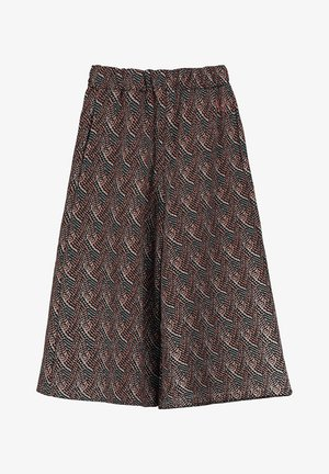 COSIMA - Trousers - black/red/white