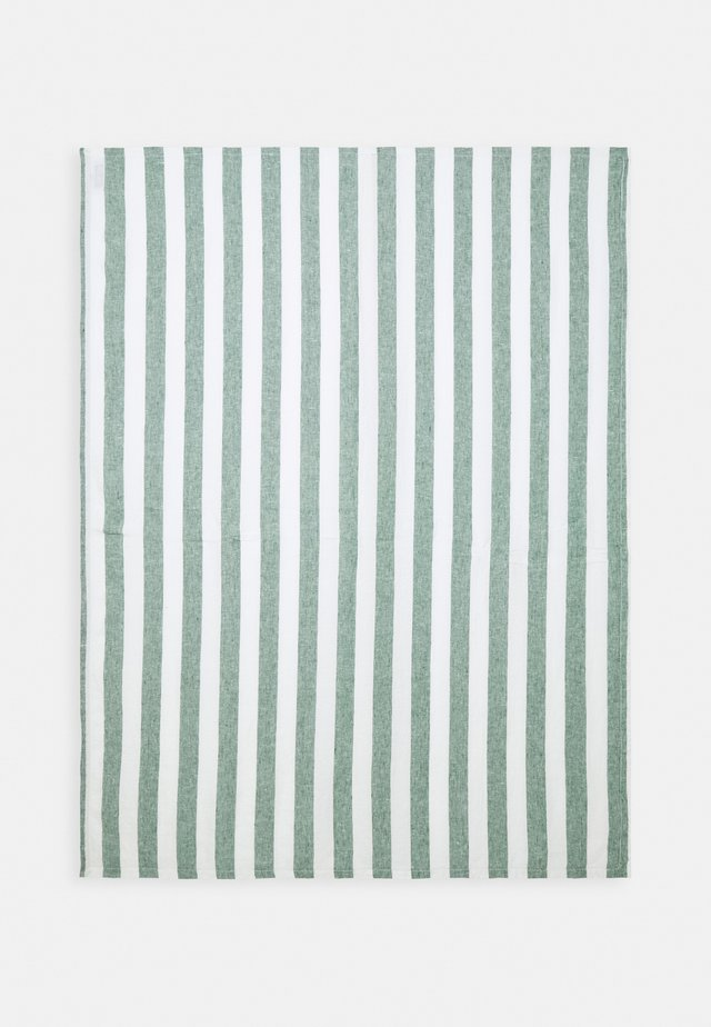 TOWEL X-LARGE STRIPE - Beach accessory - military green/white