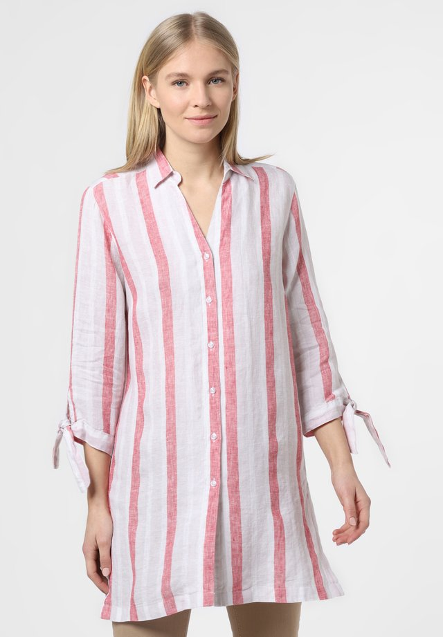 Button-down blouse - beige rot