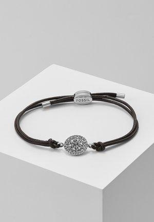 Armband - silver-coloured/braun