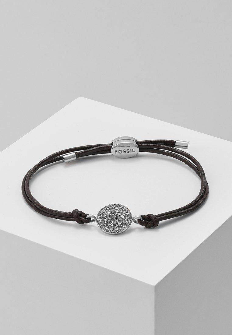 Fossil - Armband - silver-coloured/braun