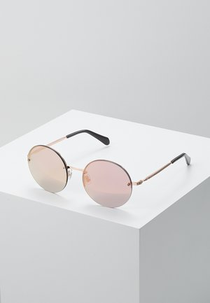 Sunglasses - red gold-coloured