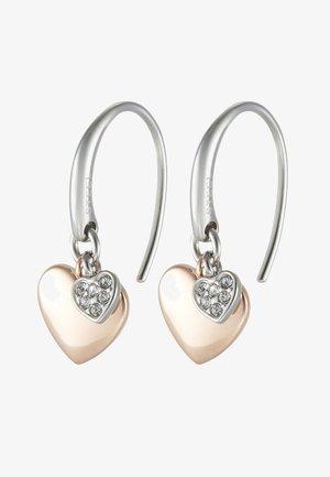 VINTAGE MOTIFS - Earrings - silver-/roségold-coloured