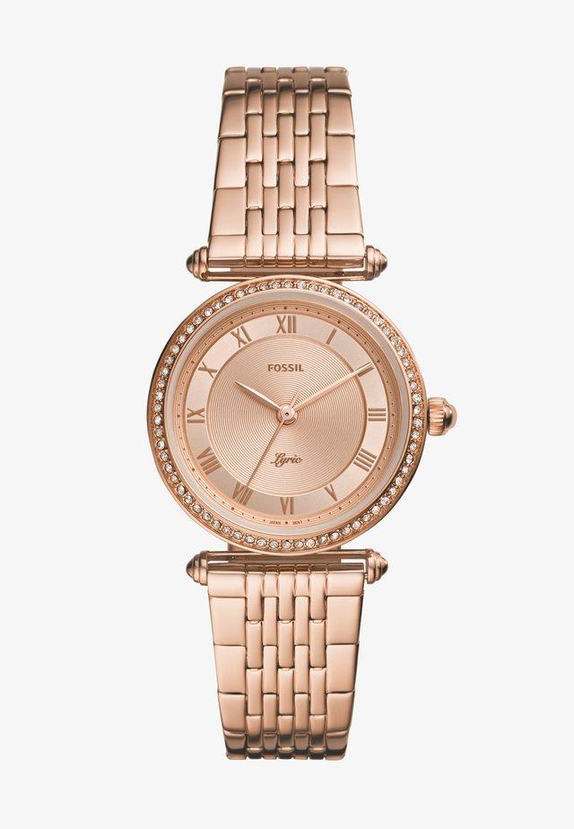 LYRIC - Horloge - rose gold-coloured