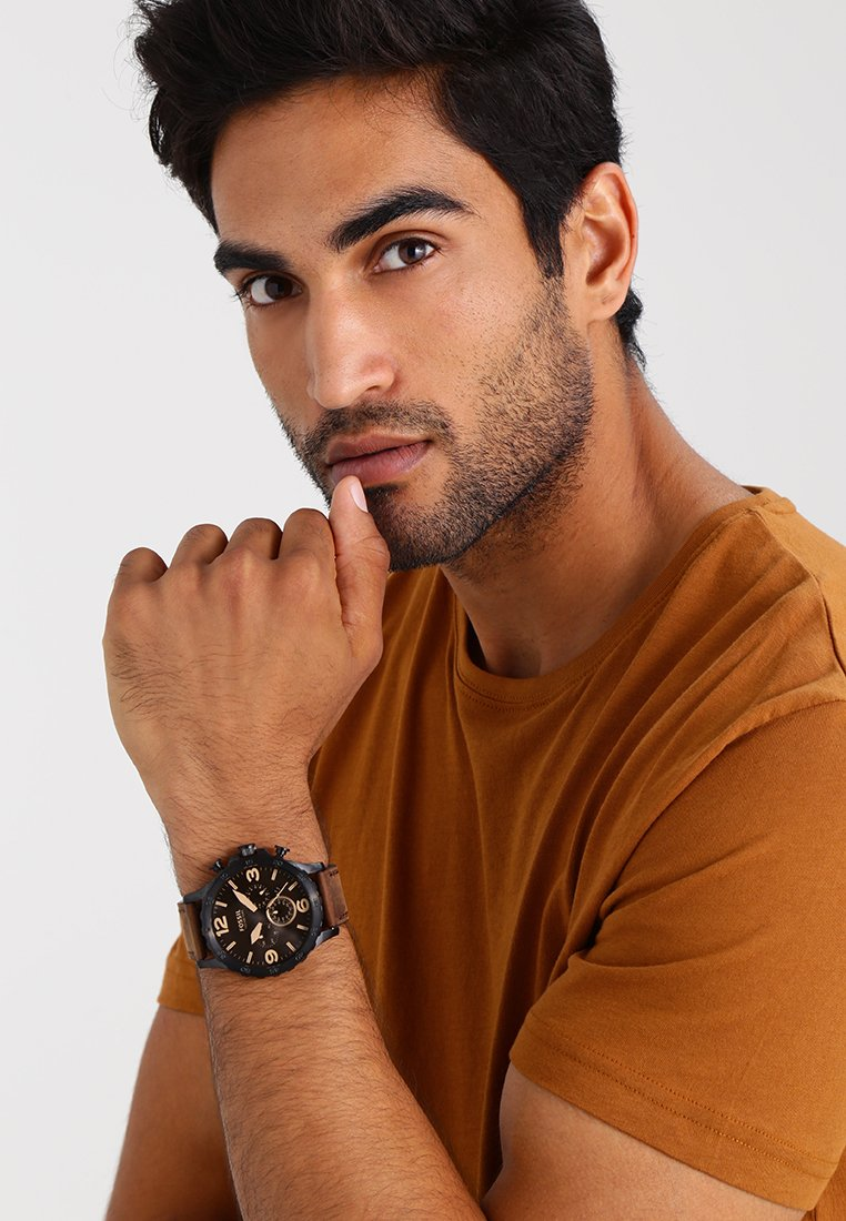 Fossil - Chronograph watch - brown