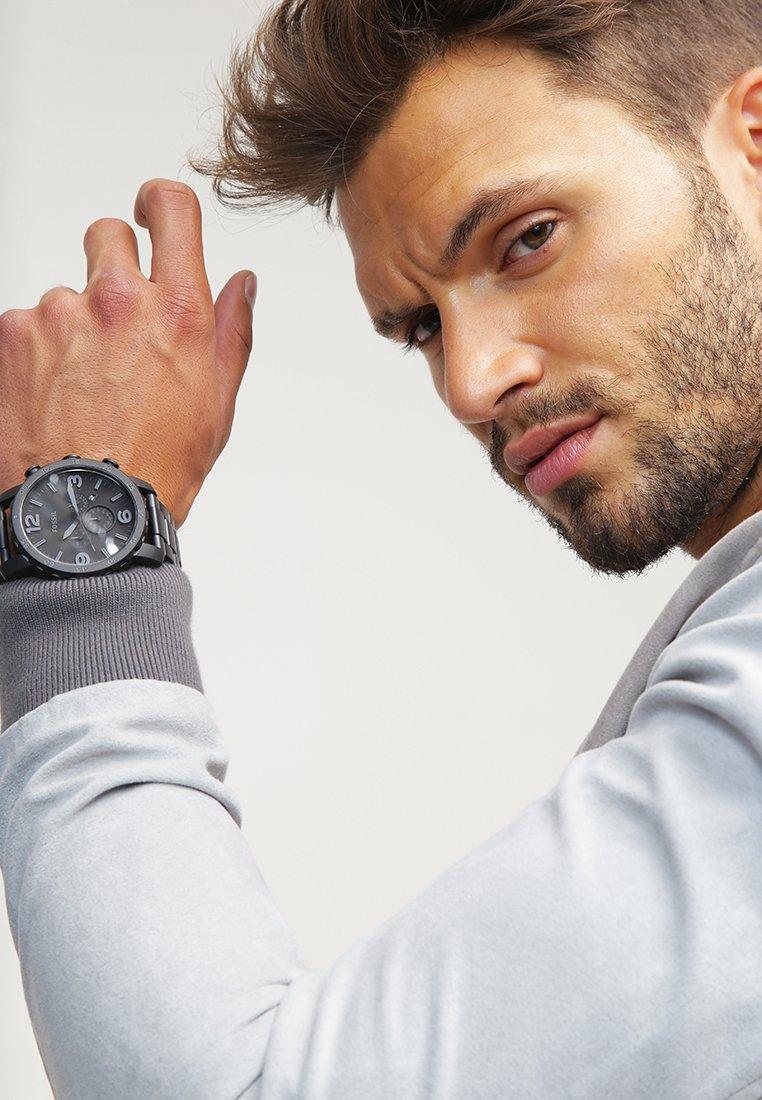 Fossil - NATE - Chronograph watch - schwarz
