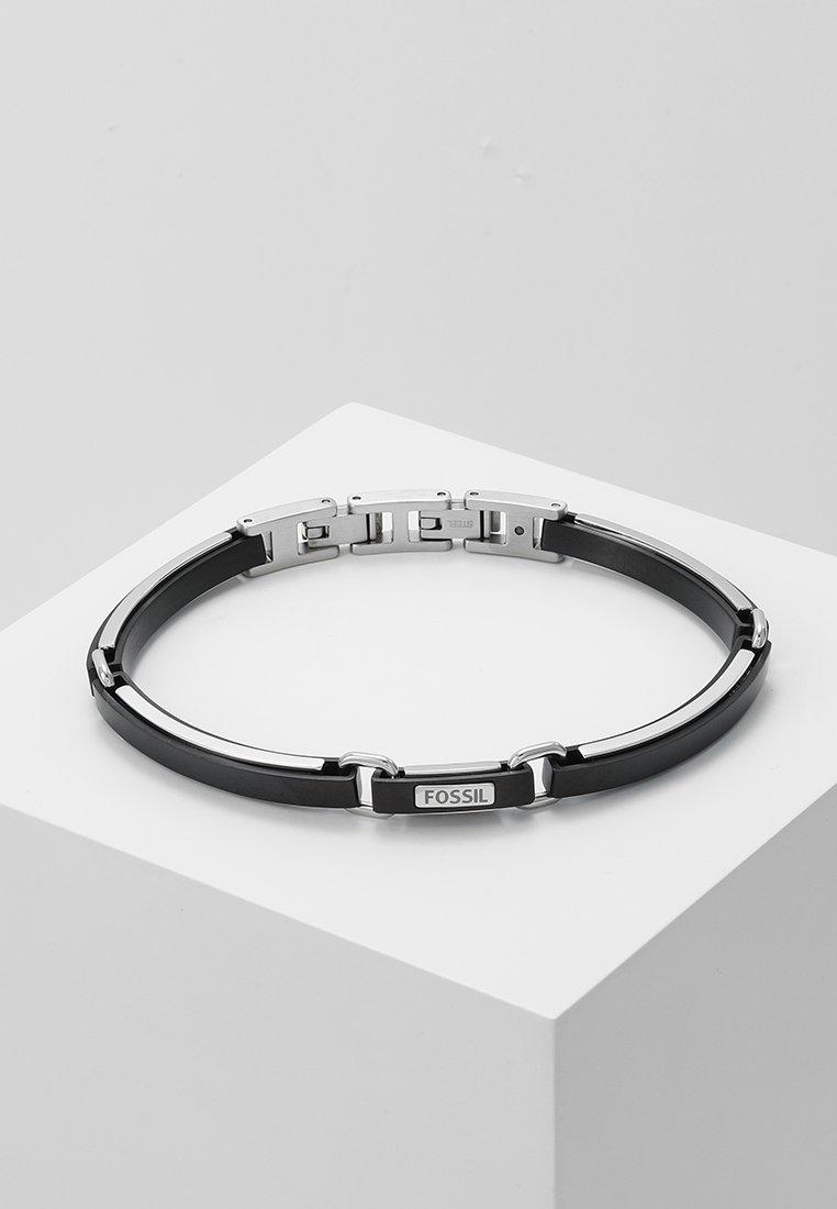 Fossil - MENS DRESS - Bracelet - silver-coloured/black