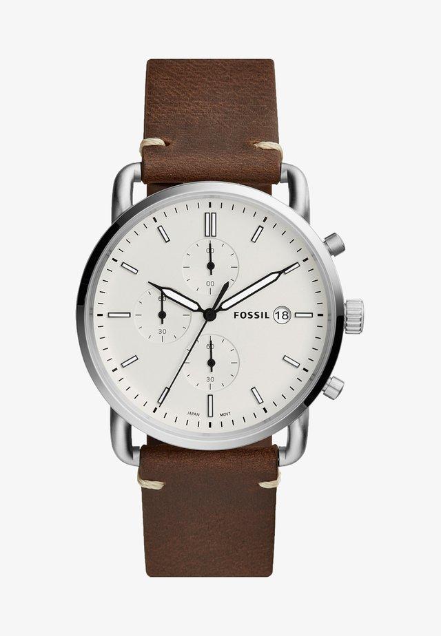 COMMUTER - Chronograph watch - braun