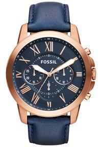 Fossil - Montre à aiguilles - blue/rose gold - 0