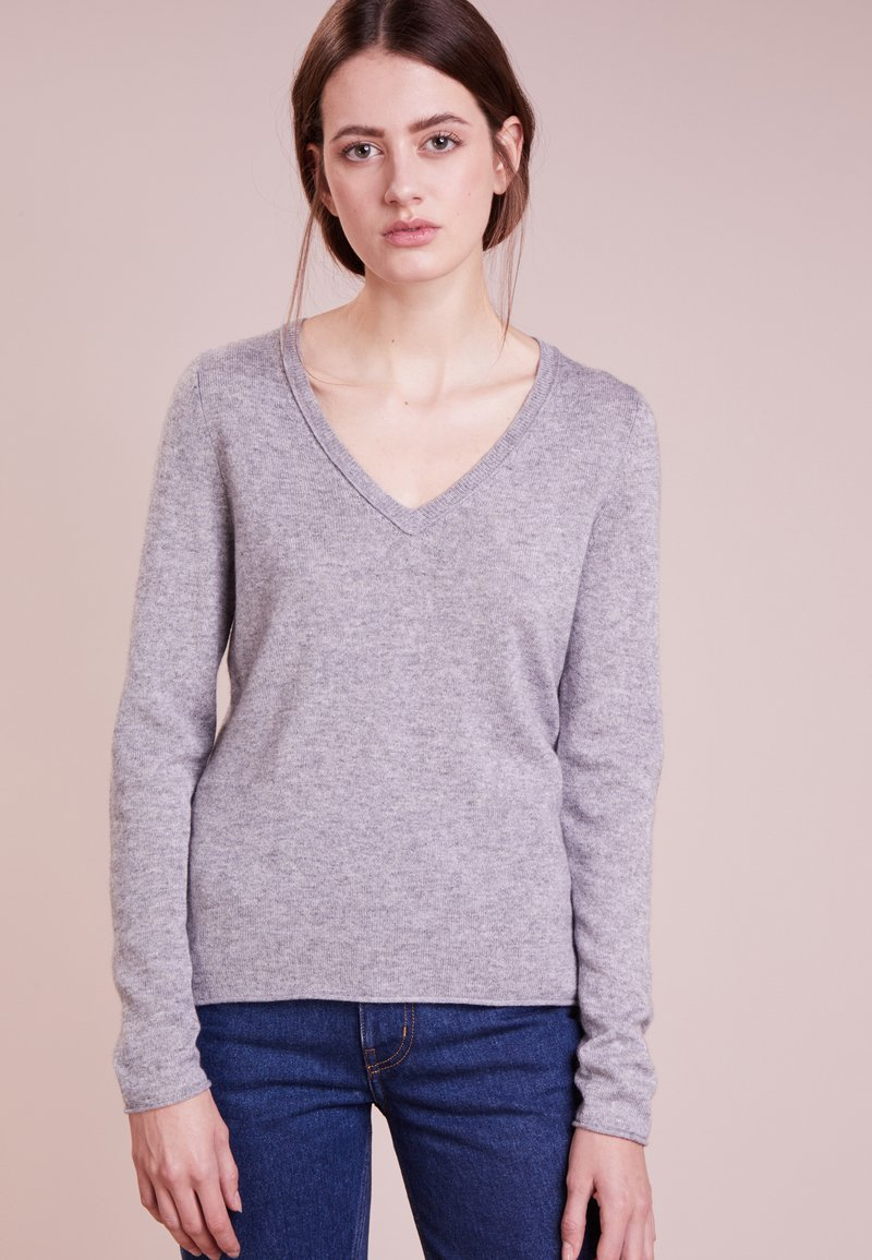 FTC Cashmere - PULLI V NECK - Jumper - opal grey