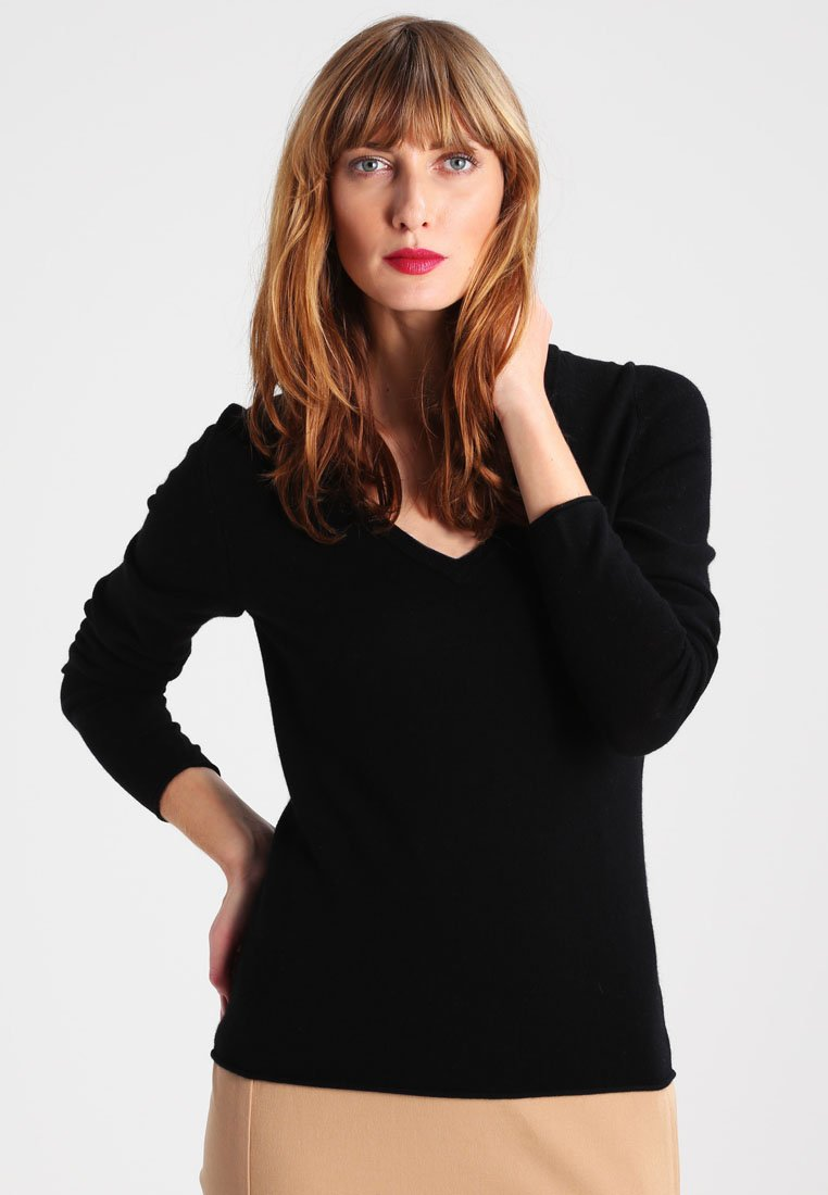 FTC Cashmere - PULLI V NECK - Strickpullover - moonless night