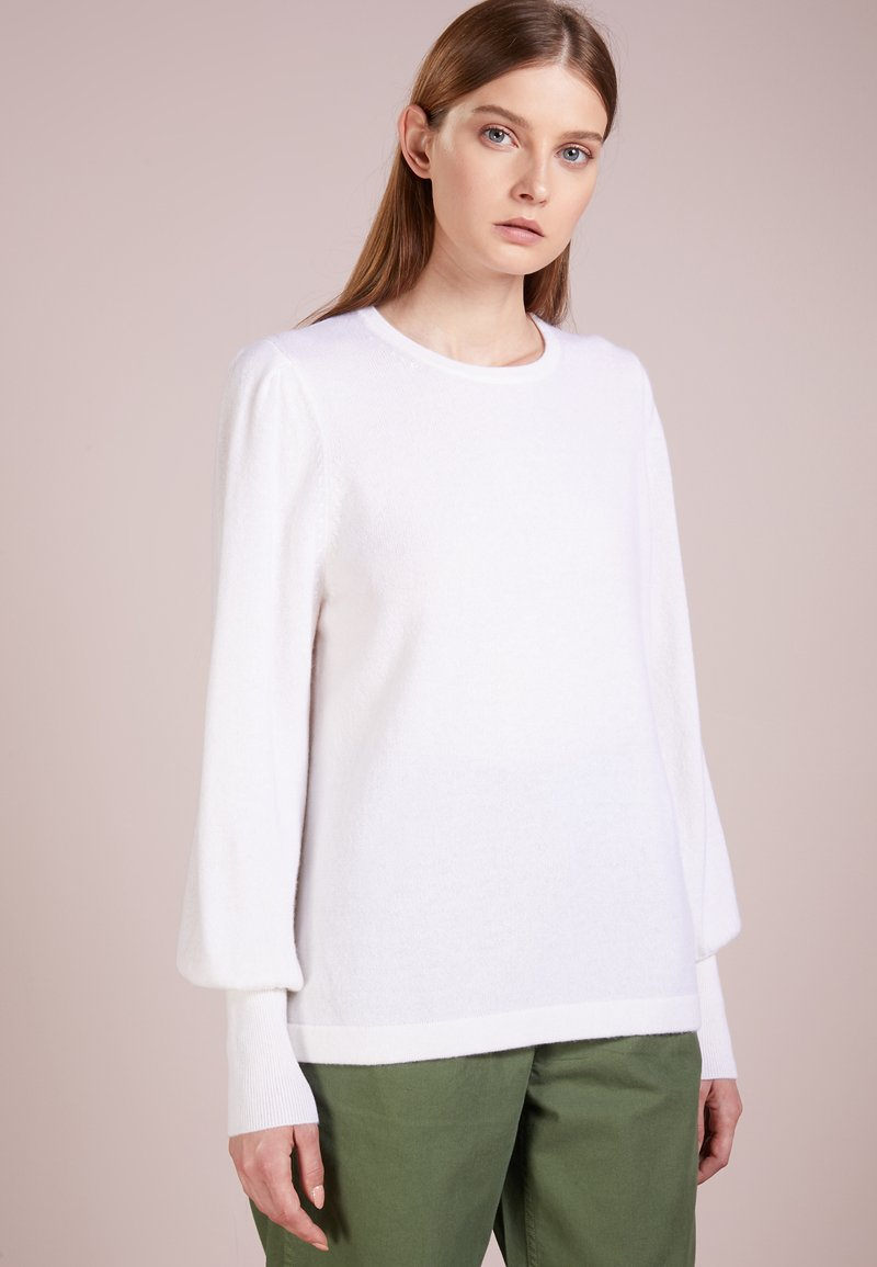 FTC Cashmere - SLEEVE CREW - Pullover - wollweiß