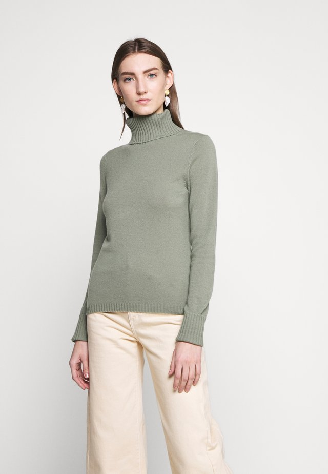 ROLLNECK - Jumper - soft olive