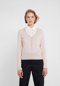 FTC Cashmere - SEA CELL V NECK CARDIGAN - Kardigan - champagne - 0