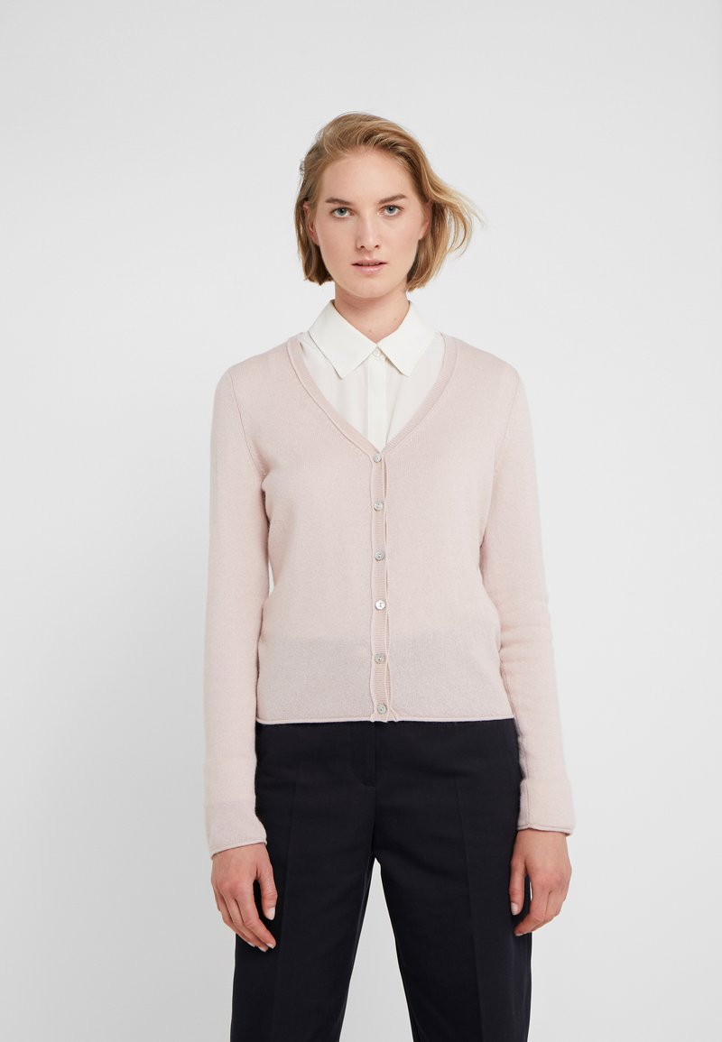FTC Cashmere - SEA CELL V NECK CARDIGAN - Kardigan - champagne