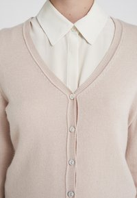 FTC Cashmere - SEA CELL V NECK CARDIGAN - Kardigan - champagne - 5