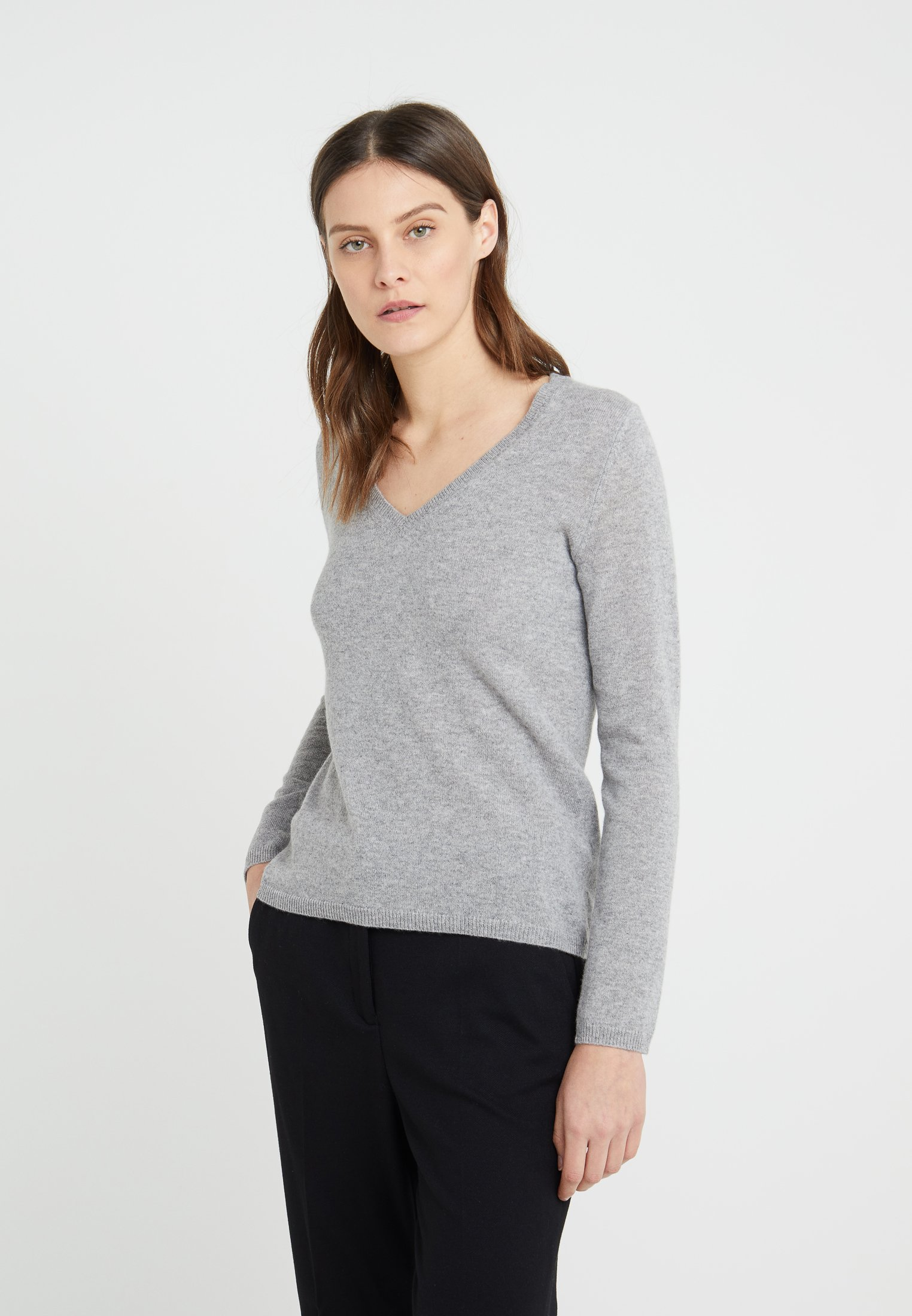 FTC Cashmere Strikkegenser - opal grey