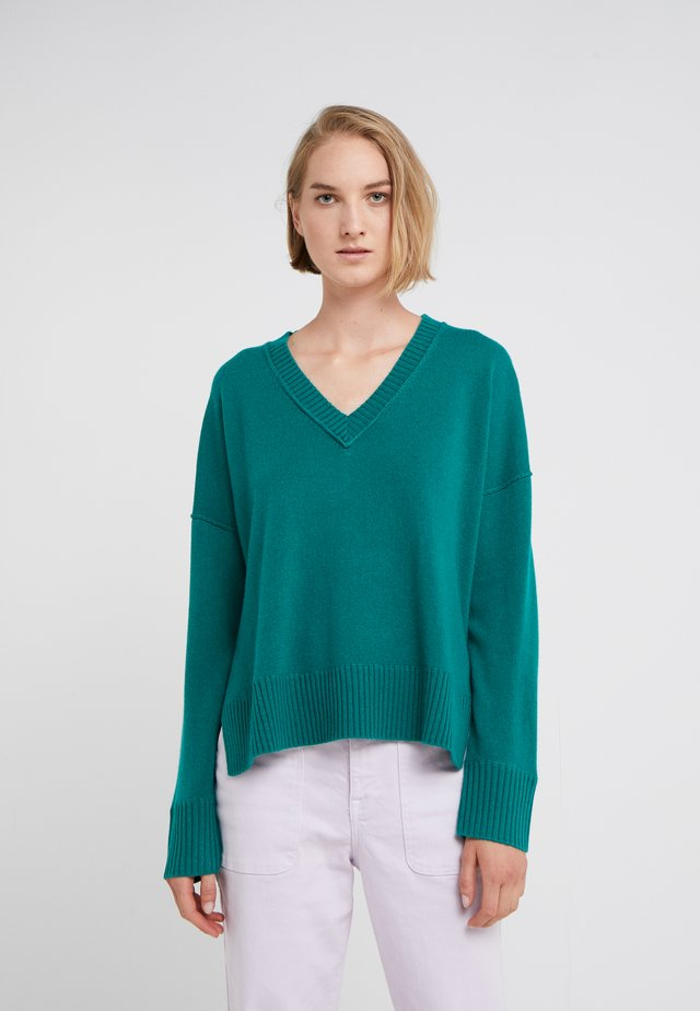 Sweter - teal green