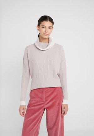 Sweter - hazelnut/pristine white