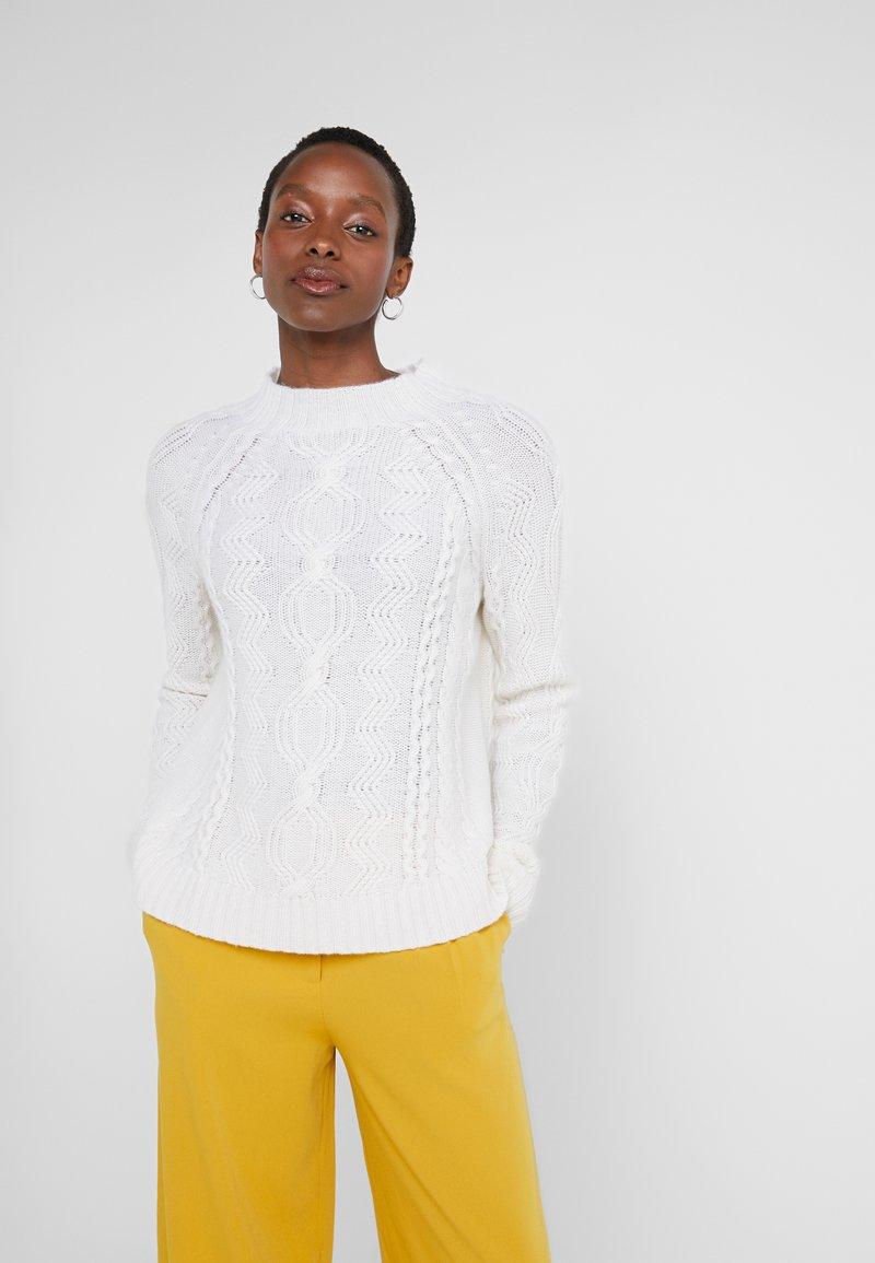 FTC Cashmere - MOCKNECK - Strikkegenser - pristine white