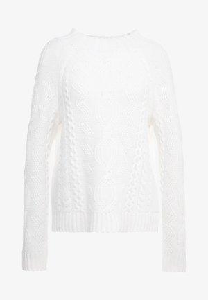 MOCKNECK - Strikpullover /Striktrøjer - pristine white