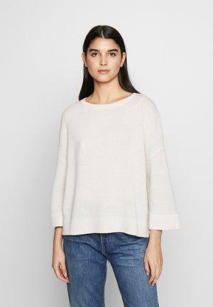 Strikkegenser - pristine white