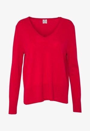 Sweter - lipstick red
