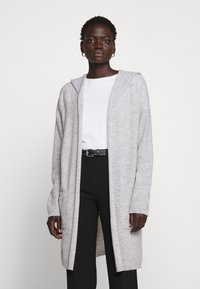 FTC Cashmere - CARDIGAN OPEN - Cardigan - silver stone - 0