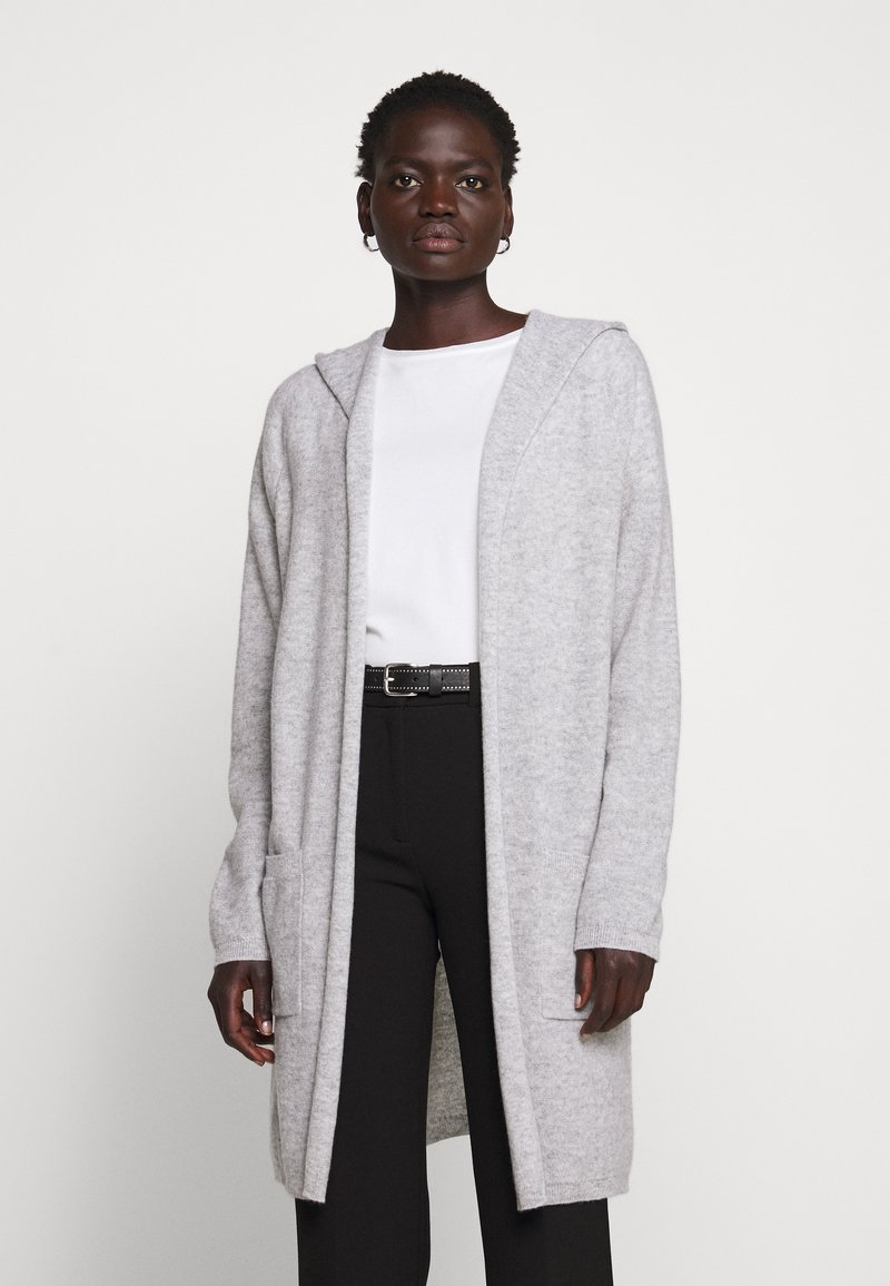 FTC Cashmere - CARDIGAN OPEN - Cardigan - silver stone