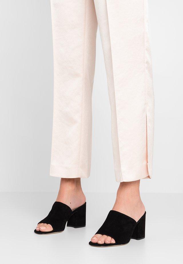 CORONA SABOT - Pantolette hoch - onyx