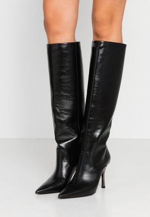 KNEE BOOT - High heeled boots - onyx