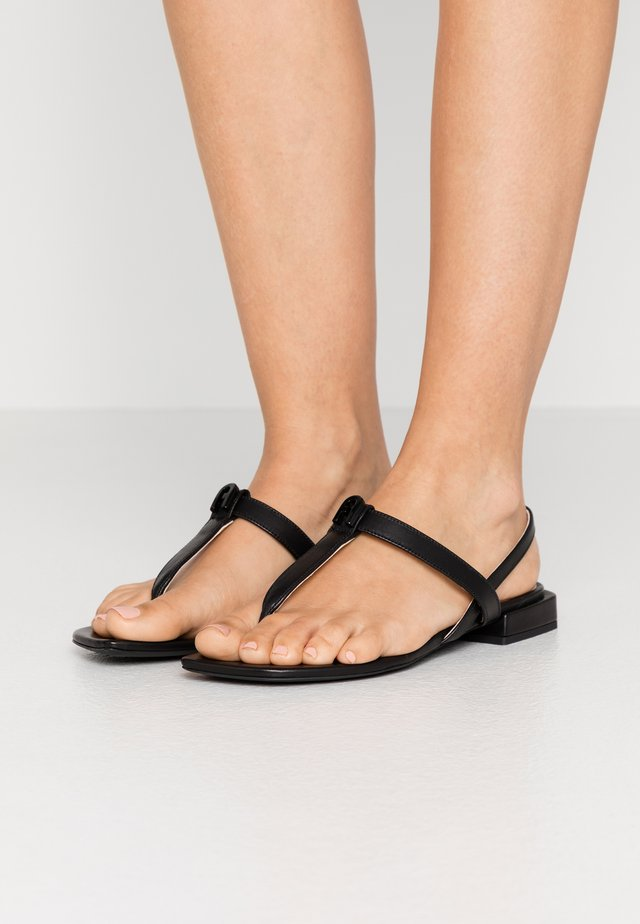 1927 THONG - T-bar sandals - nero